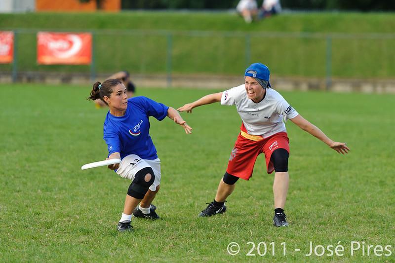 EUC2011, Maribor Slovenia.<br /> Italy vs Germany. Women Division<br /> PhotoId :2011-08-03-1418