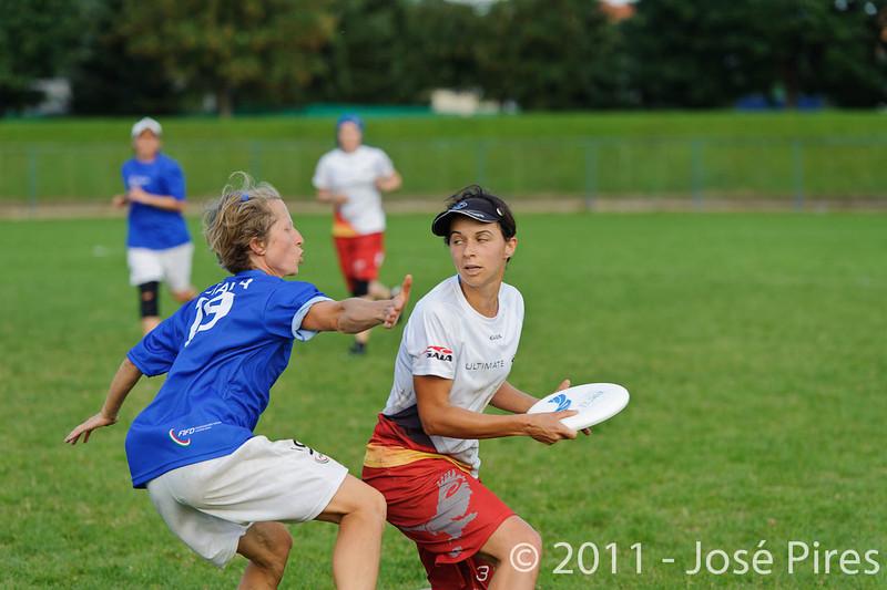 EUC2011, Maribor Slovenia.<br /> Italy vs Germany. Women Division<br /> PhotoId :2011-08-03-1279