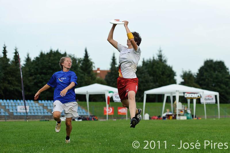 EUC2011, Maribor Slovenia.<br /> Italy vs Germany. Women Division<br /> PhotoId :2011-08-03-1351