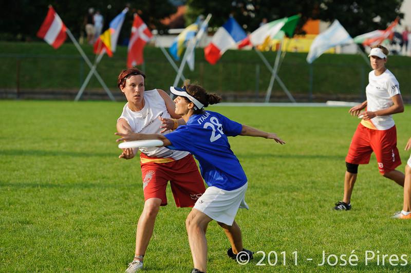 EUC2011, Maribor Slovenia.<br /> Italy vs Germany. Women Division<br /> PhotoId :2011-08-03-1326