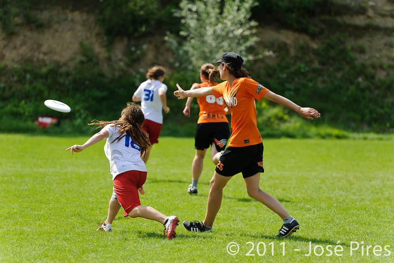 EUC2011, Maribor Slovenia.<br /> Netherlands vs France. Women Division<br /> PhotoId :2011-08-03-0768