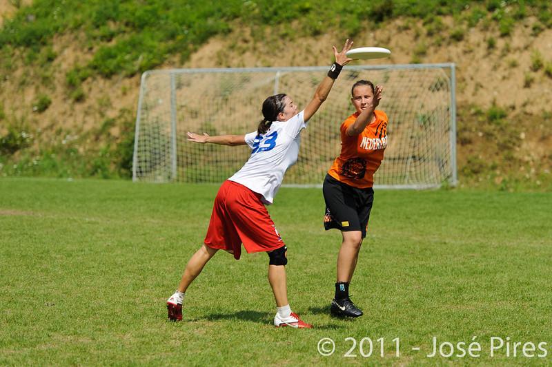 EUC2011, Maribor Slovenia.<br /> Netherlands vs France. Women Division<br /> PhotoId :2011-08-03-0724
