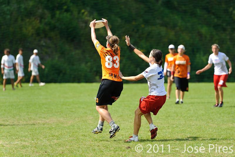 EUC2011, Maribor Slovenia.<br /> Netherlands vs France. Women Division<br /> PhotoId :2011-08-03-0780
