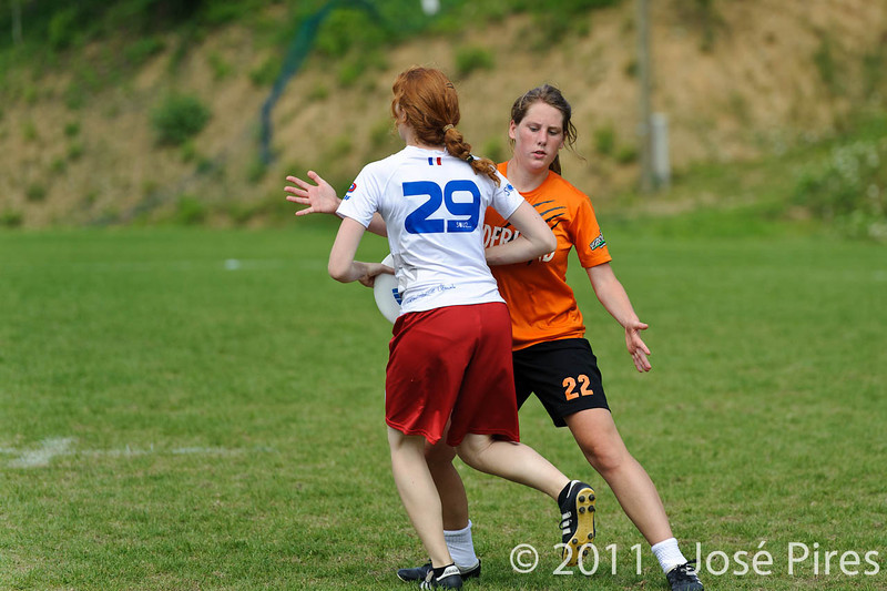 EUC2011, Maribor Slovenia.<br /> Netherlands vs France. Women Division<br /> PhotoId :2011-08-03-0735