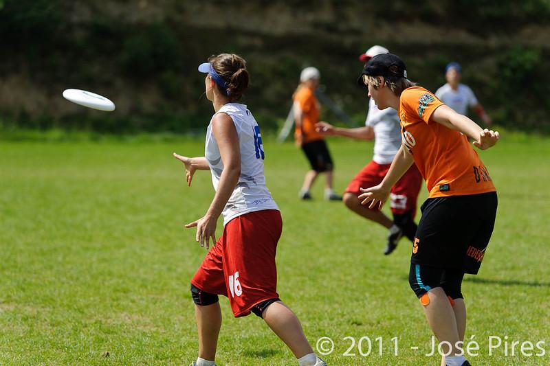 EUC2011, Maribor Slovenia.<br /> Netherlands vs France. Women Division<br /> PhotoId :2011-08-03-0763