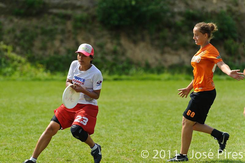 EUC2011, Maribor Slovenia.<br /> Netherlands vs France. Women Division<br /> PhotoId :2011-08-03-0765