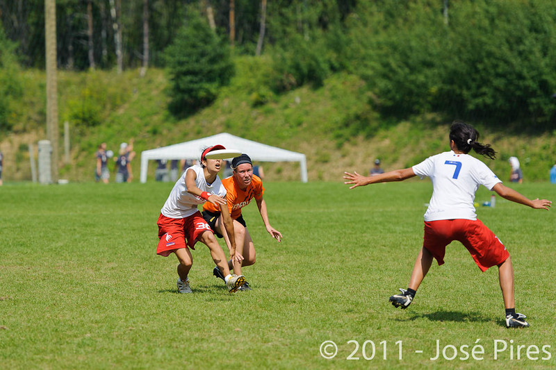EUC2011, Maribor Slovenia.<br /> Netherlands vs France. Women Division<br /> PhotoId :2011-08-03-0675