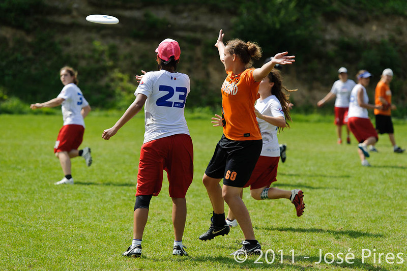 EUC2011, Maribor Slovenia.<br /> Netherlands vs France. Women Division<br /> PhotoId :2011-08-03-0766