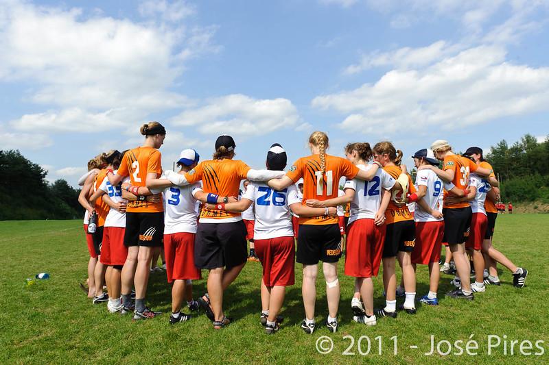 EUC2011, Maribor Slovenia.<br /> Netherlands vs France. Women Division<br /> PhotoId :2011-08-03-0808