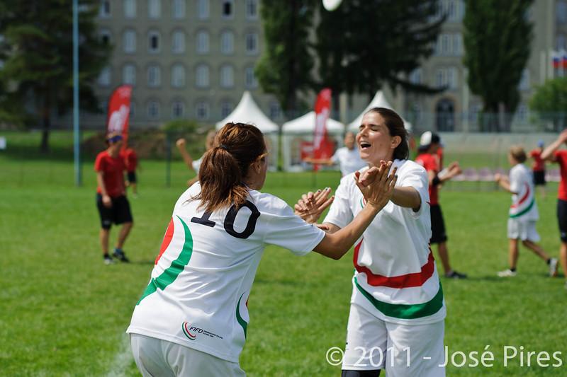 EUC2011, Maribor Slovenia.<br /> Switzerland vs Italy. Women Division<br /> PhotoId :2011-08-03-0534