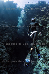 The Bells   Dahab, Egypt Shot taken while Freediving.  Ikelite 7D Housing (8'' Dome Port) Ikelite DS-161 Strobes