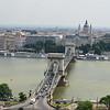 Vista del Puente de las Cadenas desde el Castillo de Buda