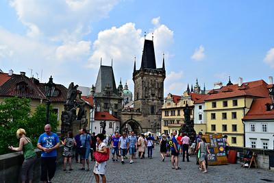 Las torres del puente en Malá Strana