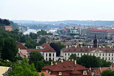 Hermosa vista de Praga