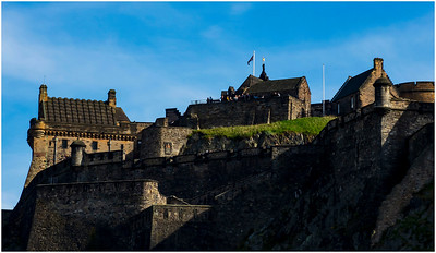 EDINBURGH CASTLE AT DUSK - FROM PRINCES STREET