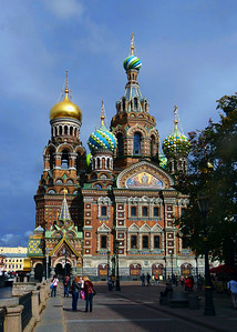 THE CHURCH ON SPILLED BLOOD - ST PETERSBURG