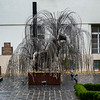 Sculpture of weeping willow tree in Raoul Wallenberg Holocaust Memorial Park at Great Synagogue, Dohany Street, Budapest, Hungary
