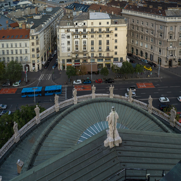 City seen from St. Stephen's Basilica, Budapest, Hungary