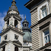 Low angle view of St. Stephen's Basilica, Budapest, Hungary
