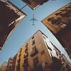 Flying Over The Gothic Quarter of Barcelona