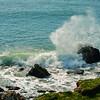 Crashing waves near St Catherines Lighthouse,