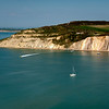 View from the Needles across the Isle of Wight