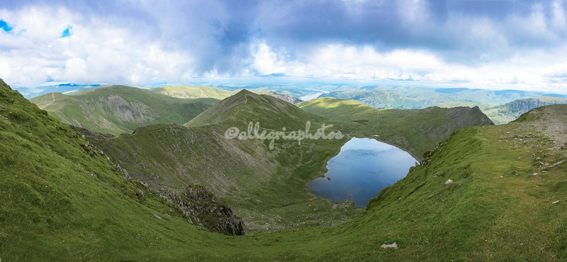 Panoramic view from Helvellyn, Cumbria, England