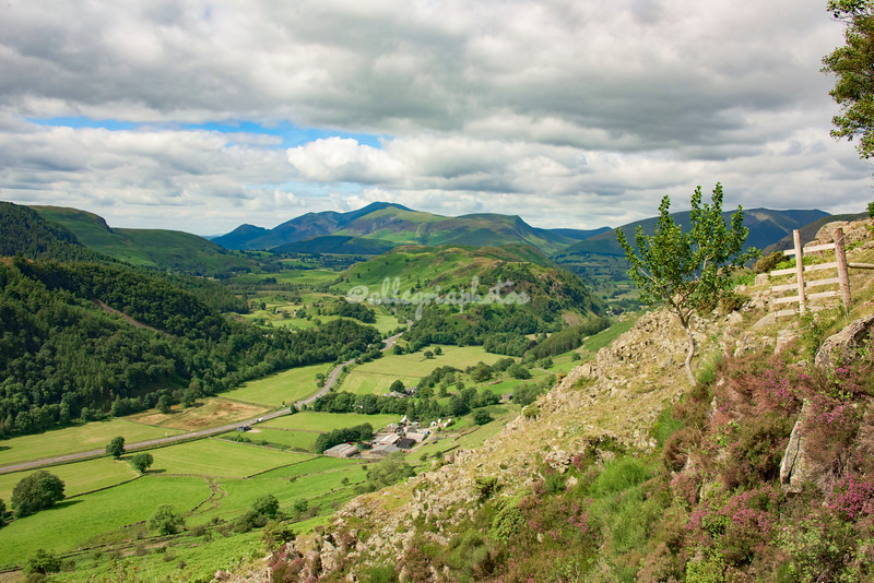 View from above Gill Foot, Thirlmere, Cumbria, England