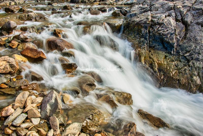 A rushing stream feeding Lake Thirlmere, Lake District, England