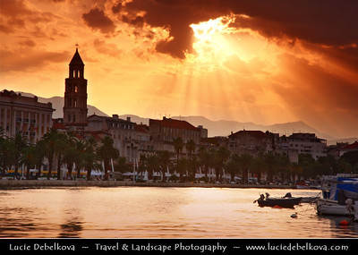 Europe - Croatia - Split - Mediterranean city on the eastern shores of the Adriatic Sea, centred around the ancient Roman Palace of the Emperor Diocletian - UNESCO World Heritage Site - Sunrise