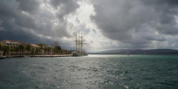 Clouds over Porto Montenegro, Bay of Kotor, Montenegro
