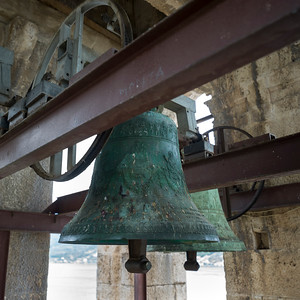Close-up of a bell in church, Montenegro