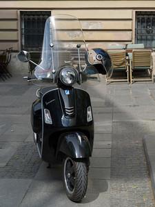 Close-up of a moped, Belgrade, Serbia