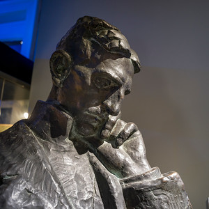 Statue of Tesla Vasenka in Nikola Tesla Museum, Belgrade, Serbia