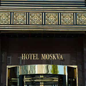 Low angle view of Hotel Moskva, Belgrade, Serbia