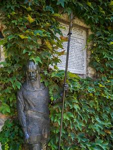 Statue at Ruzica Church in Belgrade Fortress, Belgrade, Serbia