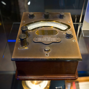 Wattmeter in a museum, Nikola Tesla Museum, Belgrade, Serbia