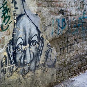 Graffiti on a wall, Belgrade, Serbia