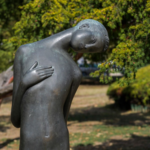 Statue in a garden, Tasmajdan Park, Belgrade, Serbia