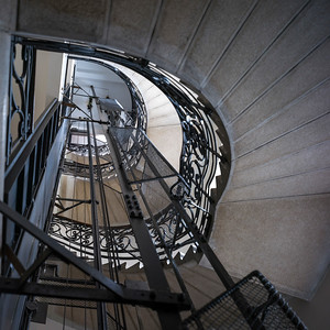 Low angle view of staircase, Belgrade, Serbia