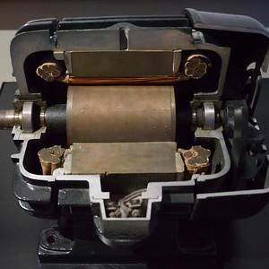 Close-up of a machine in a museum, Nikola Tesla Museum, Belgrade, Serbia