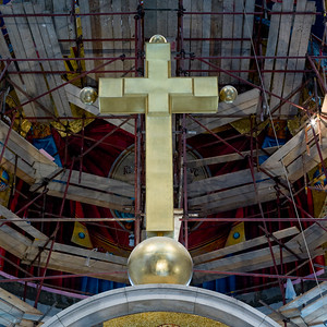 Interior of a church, St. Mark's Church, Belgrade, Serbia