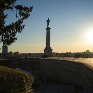 Tourists at Belgrade Fortress, Belgrade, Serbia