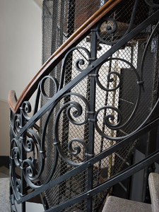 Detailed staircase railing, Belgrade, Serbia