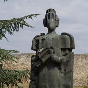 Sculpture at Belgrade Fortress, Belgrade, Serbia