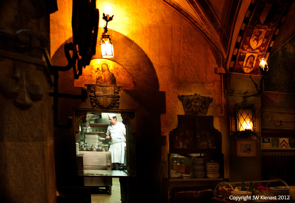 Kitchens seem the same all over, but in Florence the dining room is different.