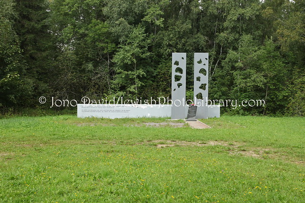 ESTONIA, Ereda. Ereda Concentration Camp Holocaust Memorial (Ida-Viru County). (8.2011)
