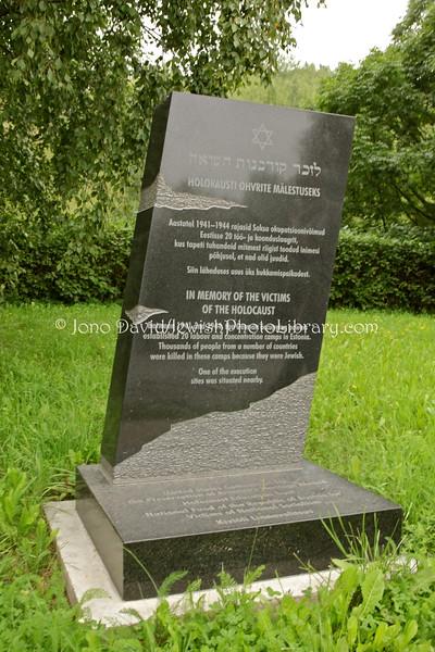 ESTONIA, Kivioli. Kivioli Concentration Camp Holocaust Memorial on the Sami-Kivioli Road. (8.2011)