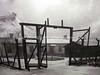 EE 694  Kivioli Koonduslaager (concentration camp), November 1944 (behind is man-made mining hill)