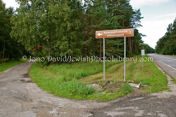 ESTONIA, Klooga. Klooga Labor Camp Holocaust Memorials. (8.2011)